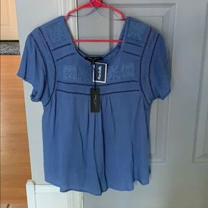 Blue blouse from Marshall's!